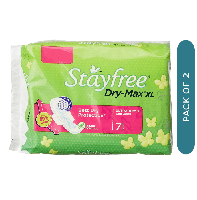 Stayfree Dry-Max Ultra Dry Pads XL Pack of 2