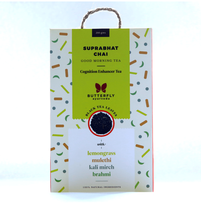 Butterfly Ayurveda Suprabhat Chai Black Tea Leaves with Lemongrass