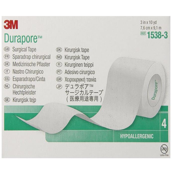 3M Durapore Tape 1538-3, 3 inch x 10 yard