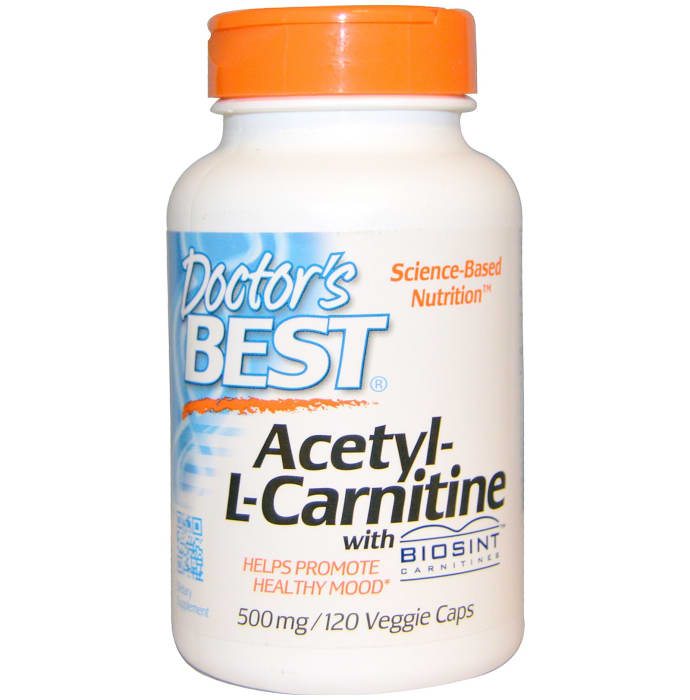 Doctor's Best Acetyl-L-Carnitine 500mg Veggie Caps