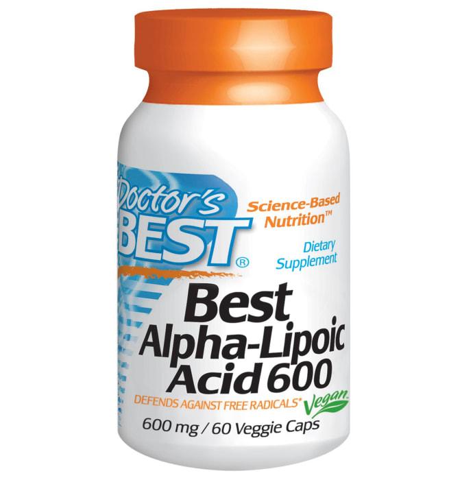 Doctor's Best Alpha-Lipoic Acid 600mg Veggie Capsule