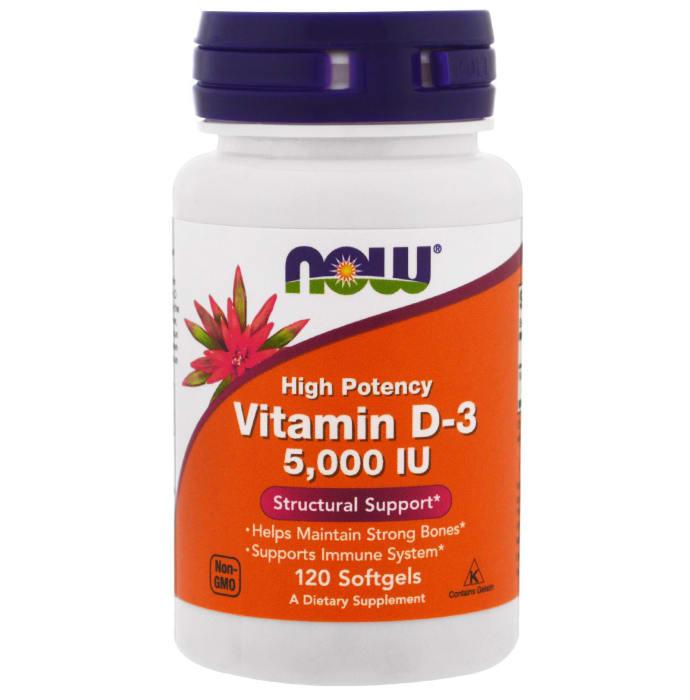 NOW Foods Vitamin D-3 5000IU Softgels
