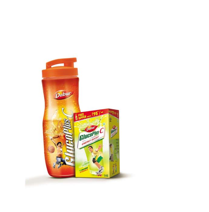 Dabur Glucoplus C Powder (Get Sipper Free) Lemon