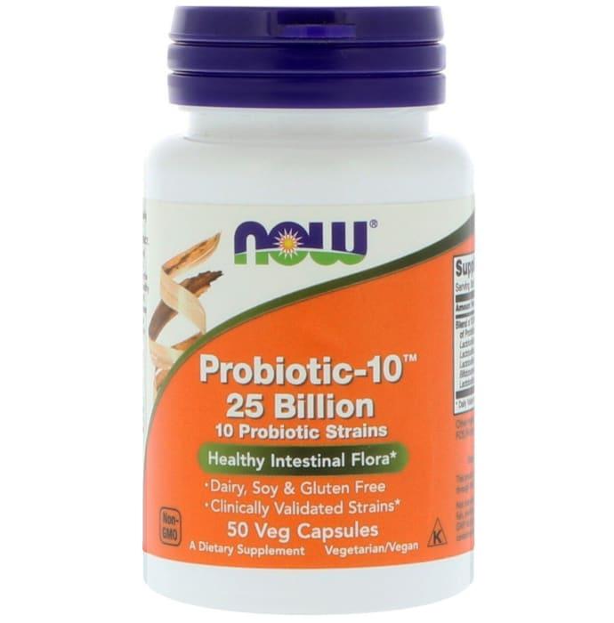 NOW Foods Probiotic-10, 25 Billion Veg Capsule