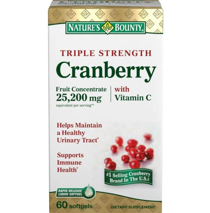 Nature's Bounty Triple Strength Cranberry With Vitamin C Softgels