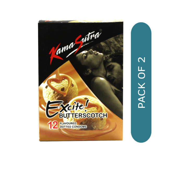 Kamasutra Excite Condom Butterscotch Pack of 2