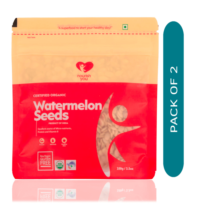 Nourish You Organic Watermelon Seeds Pack of 2