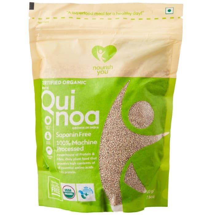 Nourish You Organic Indian White Quinoa Seeds