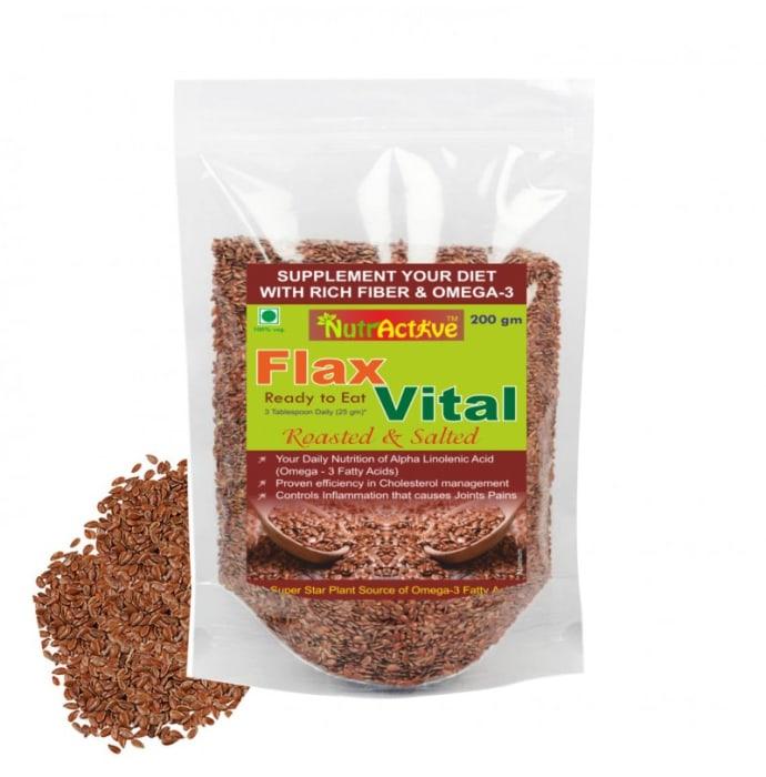 NutrActive Flax Vital Roasted & Salted Flaxseed