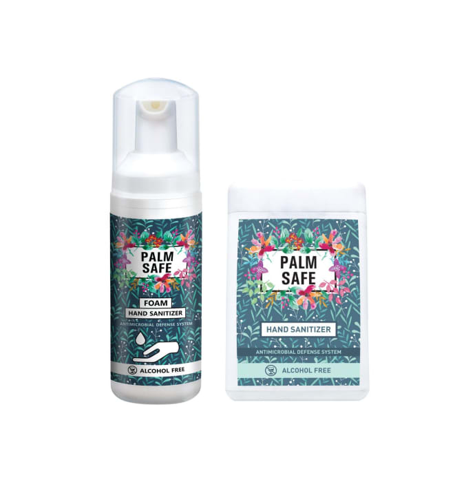 Palmsafe Combo Pack of Alcohol Free Hand Sanitizer (60ml Foam and 20ml Spray)