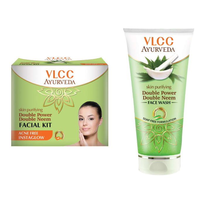 VLCC Combo of Ayurveda Double Neem Facial Kit & Double Neem Face Wash