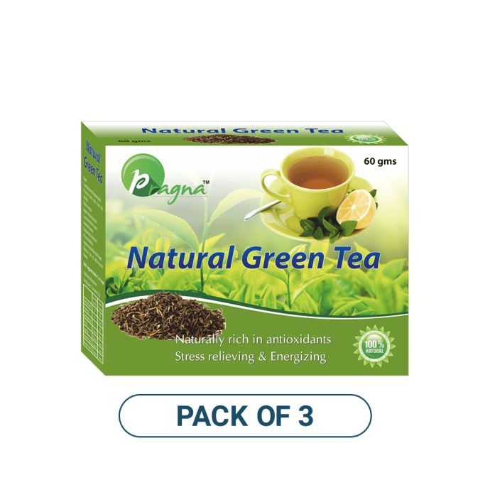 Pragna Natural Green Tea Pack of 3