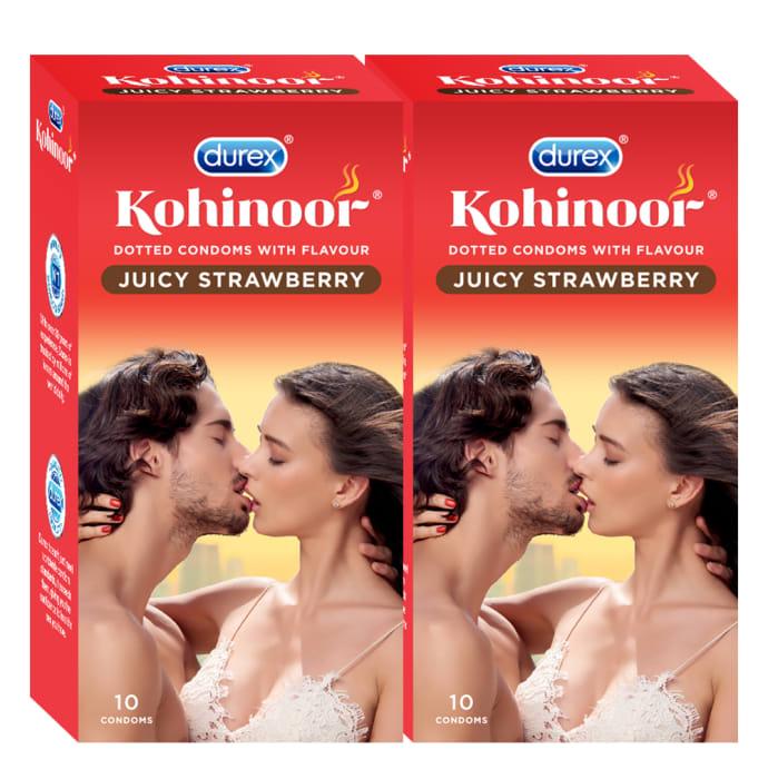 Durex Kohinoor Condom Juicy Strawberry Pack of 2