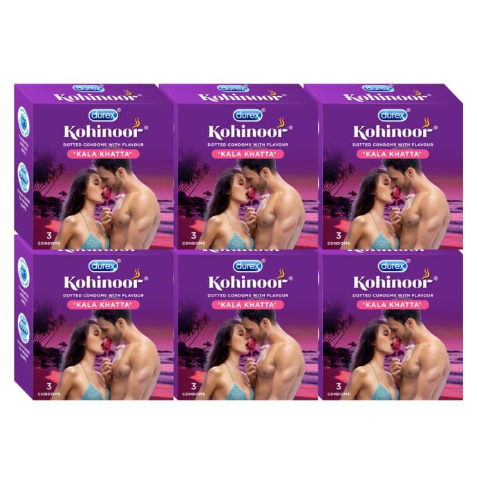 Durex Kohinoor Condom Kala Khatta Pack of 6