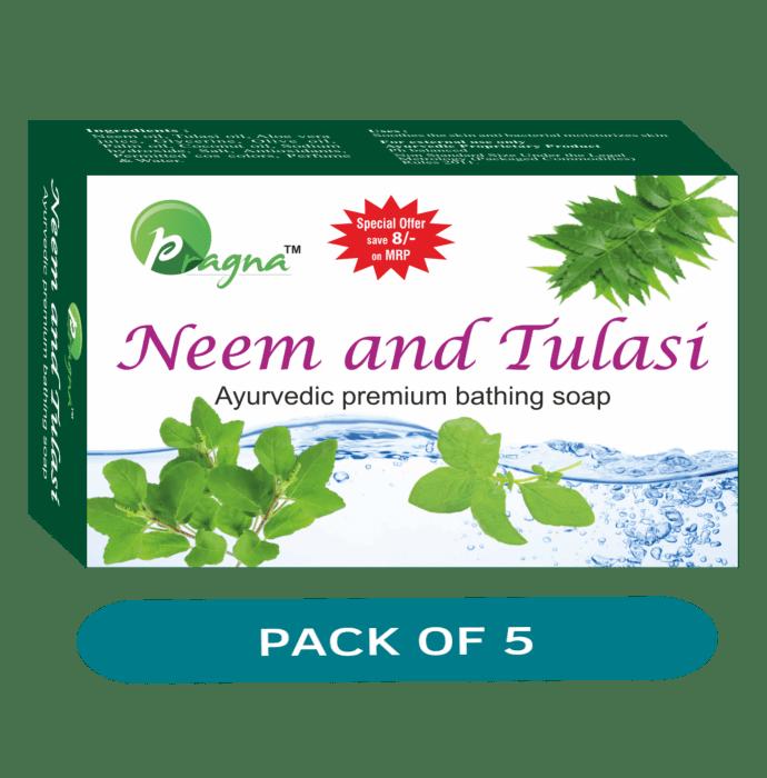 Pragna Neem & Tulasi Soap Pack of 5
