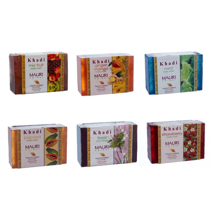 Khadi Mauri Herbal Handcrafted Ayurvedic Natural Soaps 125gm Each