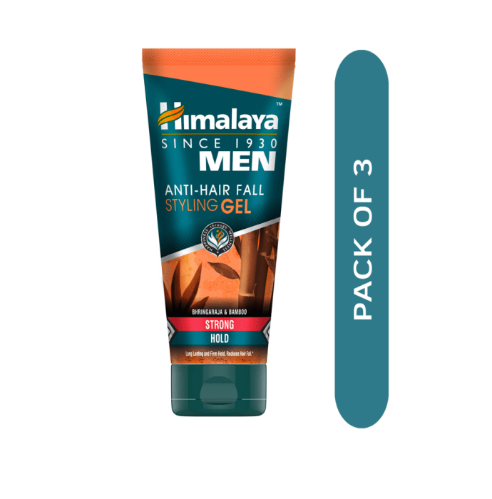 Himalaya Personal Care Anti-Hair Fall Styling Gel Strong Hold Pack of 3