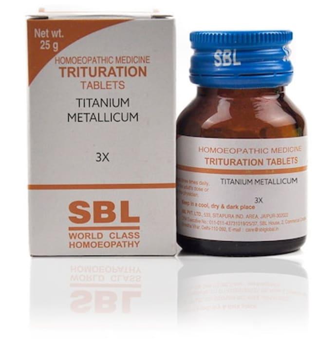SBL Titanium Metallicum Trituration Tablet 3X