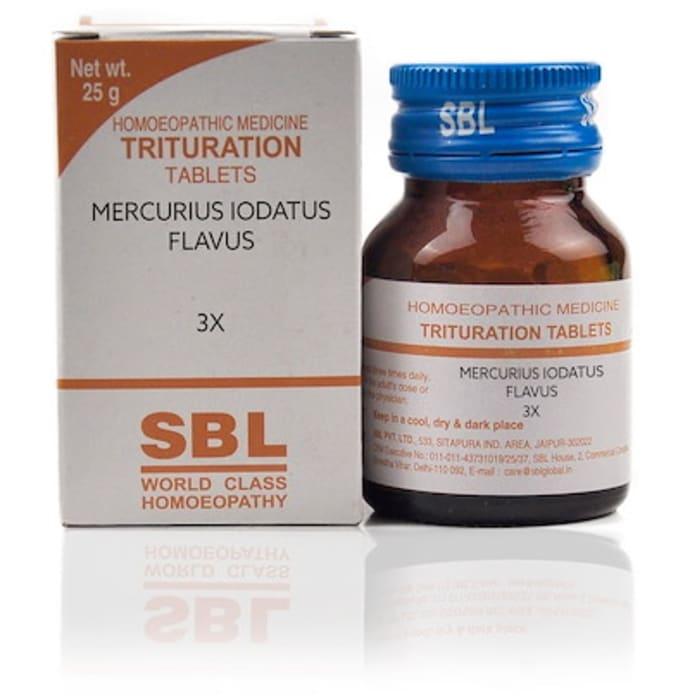 SBL Mercurius Iodatus Flavus Trituration Tablet 3X
