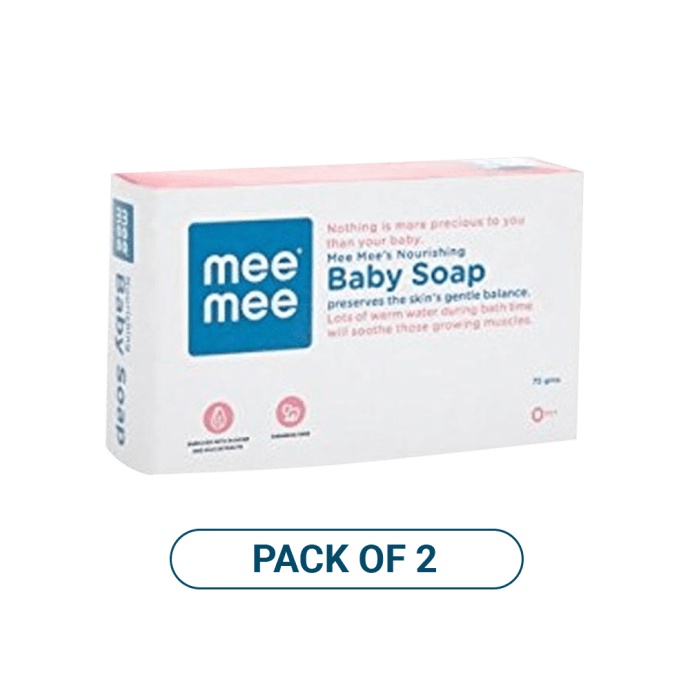 Mee Mee Nourishing Baby Soap with Almond & Milk Extracts Pack of 2
