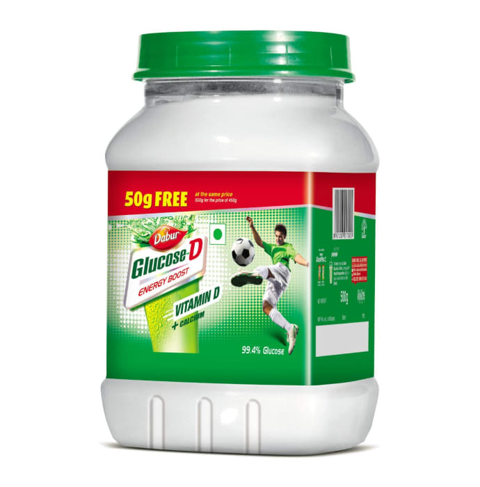 Dabur Glucose D 450gm + 50gm Free Powder