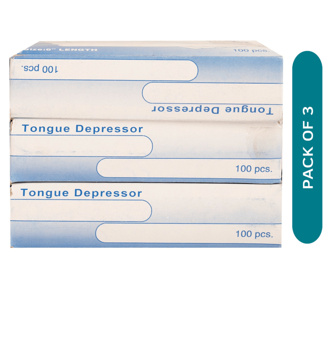 Surgicare Shoppie Tongue Depressor Wooden Pack of 3