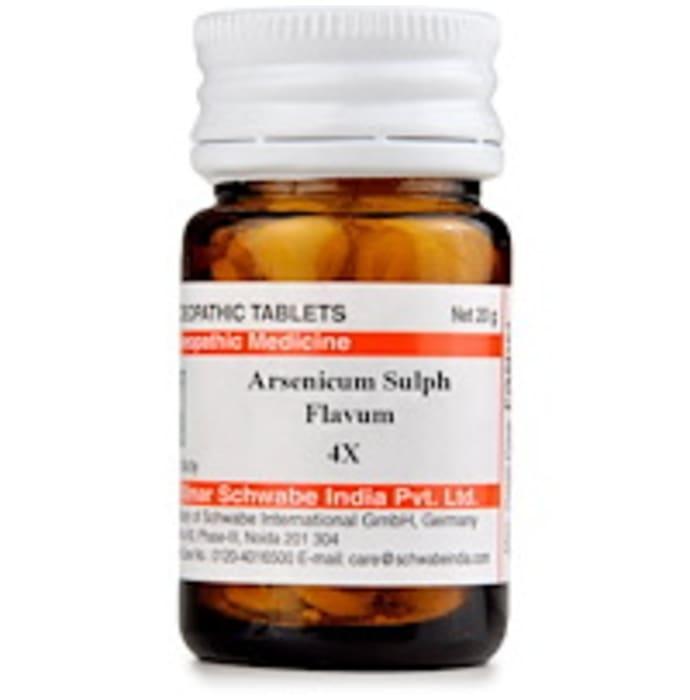 Dr Willmar Schwabe India Arsenicum Sulph Flavum Trituration Tablet 4X