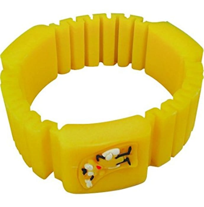 Surety for Safety Mosquito Repellent Bracelet Yellow