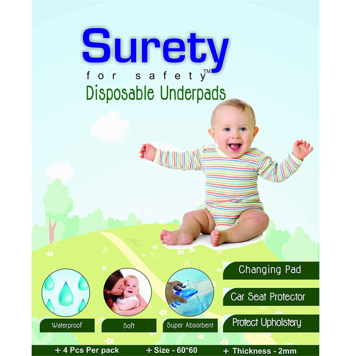 Surety for Safety Disposable Sheets Under Pads