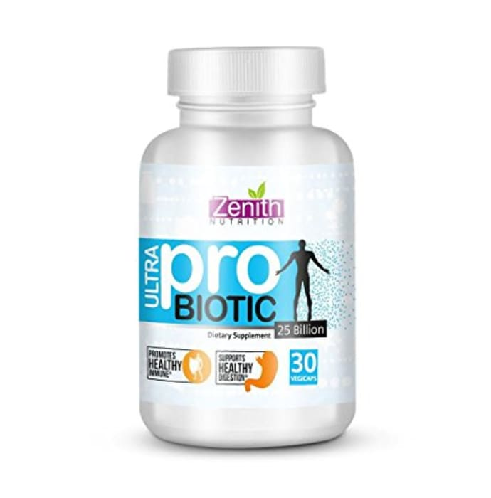 Zenith Nutrition Ultra Probiotic-10, 25 Billion cfu'S Capsule