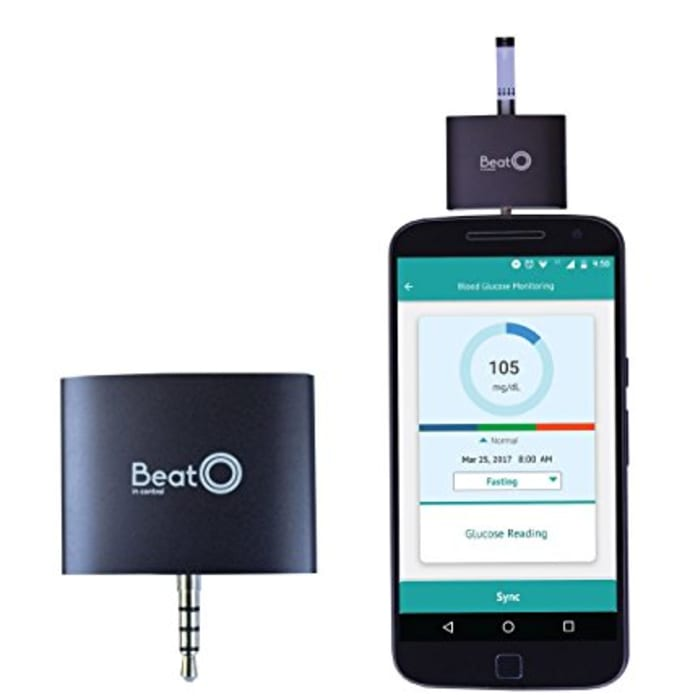 BeatO Smartphone Glucometer with 100 Strips