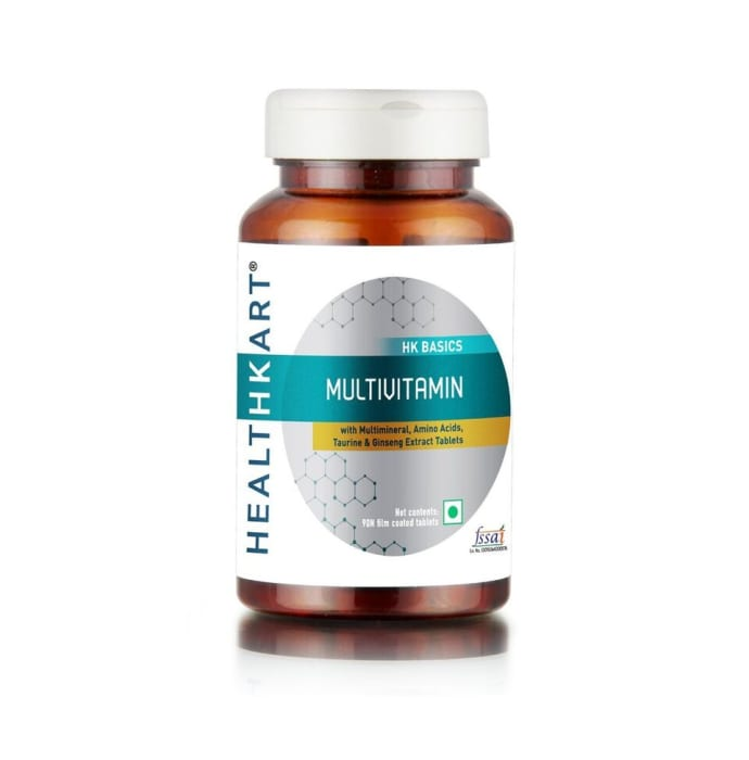 HealthKart Multivitamin with Ginseng Extract, Taurine and Multiminerals Tablet