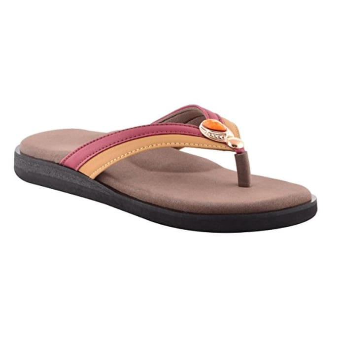 Dia One Orthopedic Sandal Rubber Sole MCP Insole Diabetic Footwear for Women Dia_52 Size 8