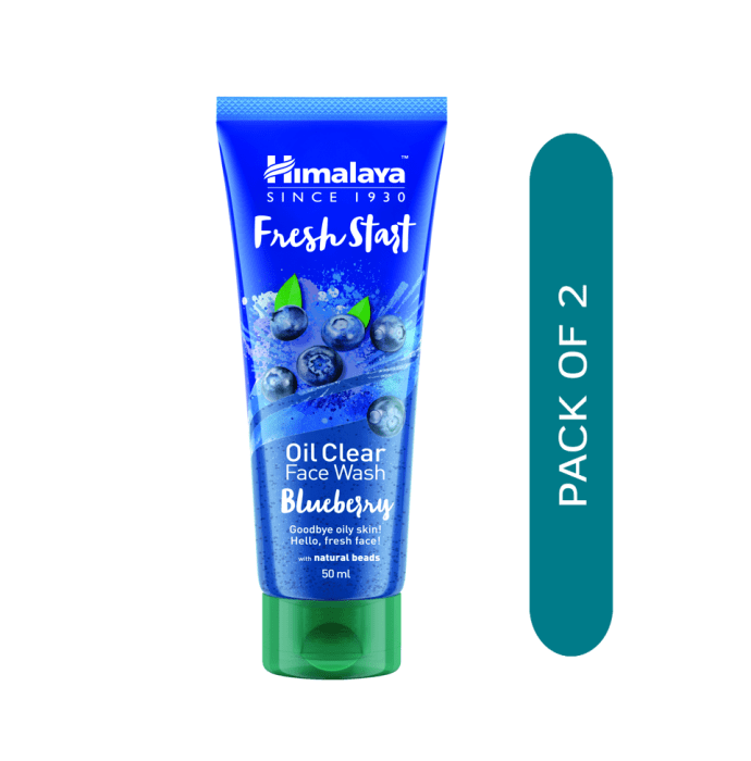 Himalaya Personal Care Fresh Start Oil Clear Face Wash Blueberry Pack of 2