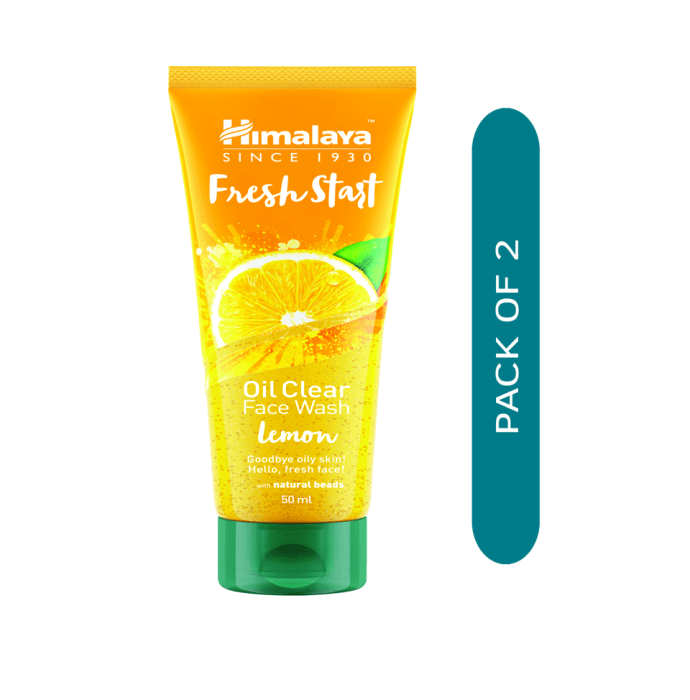 Himalaya Personal Care Fresh Start Oil Clear Face Wash Lemon Pack of 2
