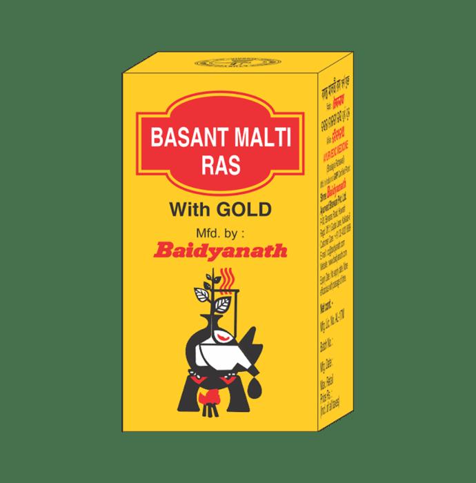 Baidyanath Basant Malti Ras with Gold Tablet