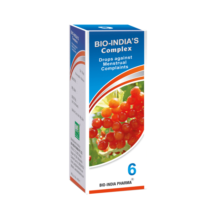 Bio India Complex 6 Menstrual Complaints Drop