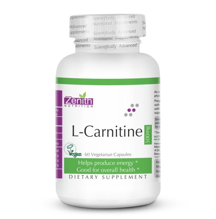 Zenith Nutrition L-Carnitine 500mg Veg Capsule