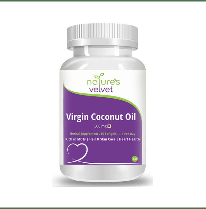 Natures Velvet Lifecare Lifecare Virgin Coconut Oil 500mg Softgels
