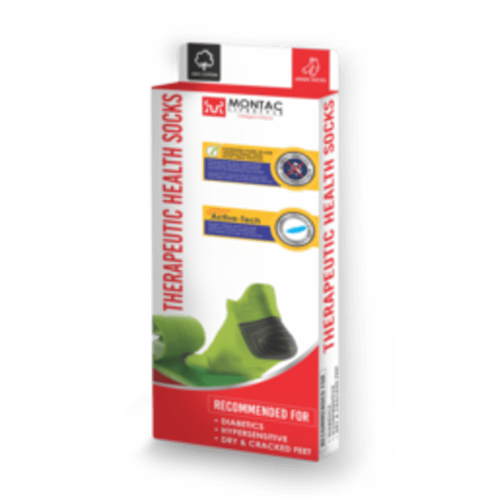 Montac Lifestyle Therapeutic Health Socks Grey