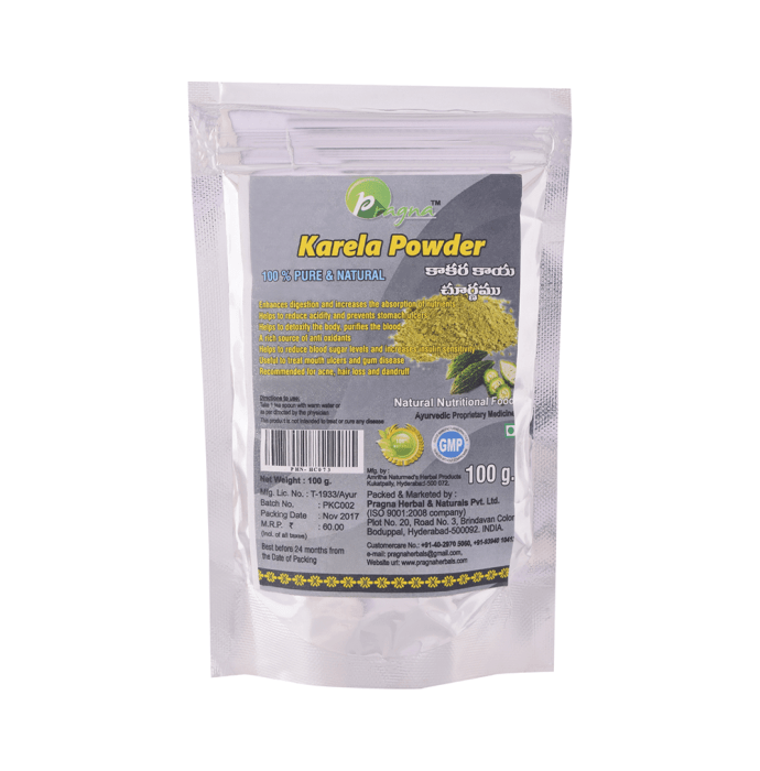 Pragna Karela Powder Pack of 2