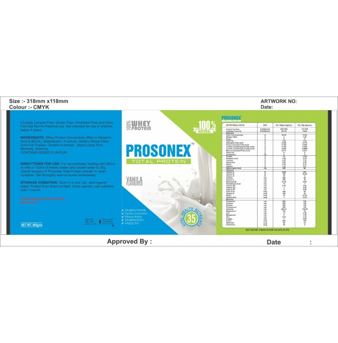 Prosonex Total Protein Powder Vanilla