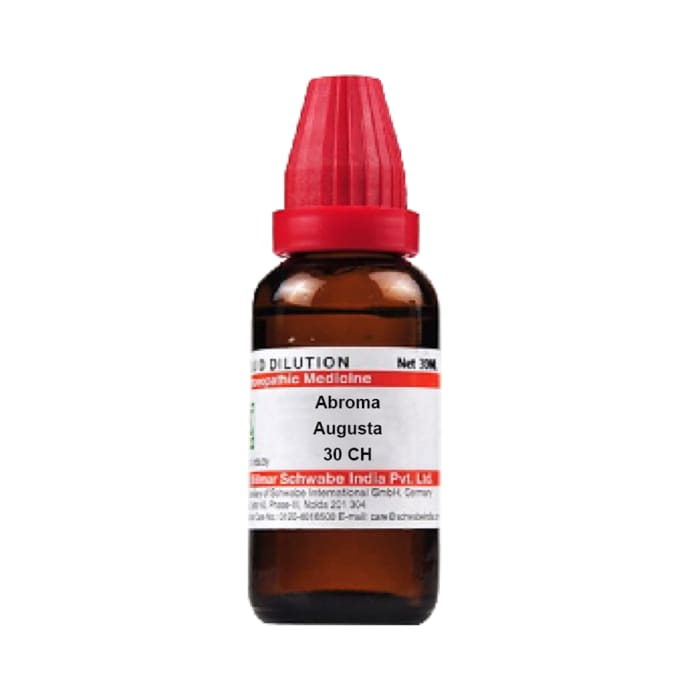 Dr Willmar Schwabe India Abroma Augusta Dilution 30 CH