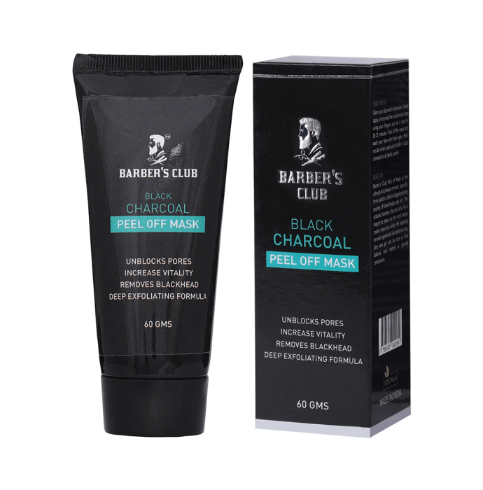 Barber's Club Black Charcoal Peel off Mask