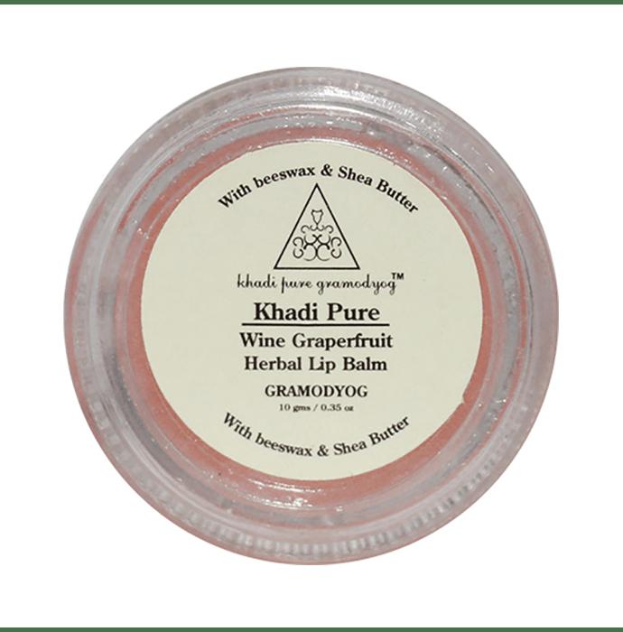 Khadi Pure Herbal Lip Balm Wine Grapefruit