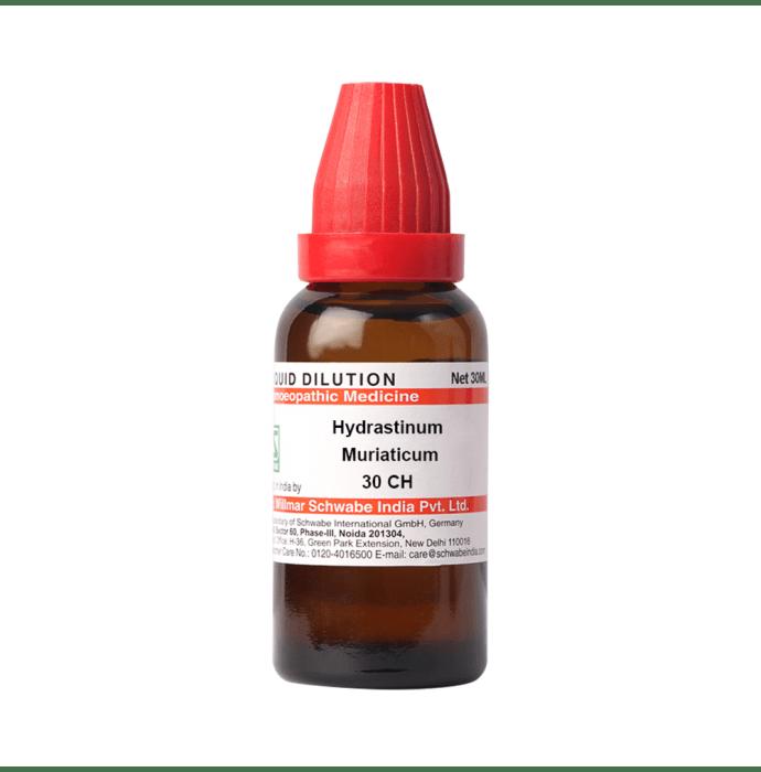 Dr Willmar Schwabe India Hydrastinum Muriaticum Dilution 30 CH