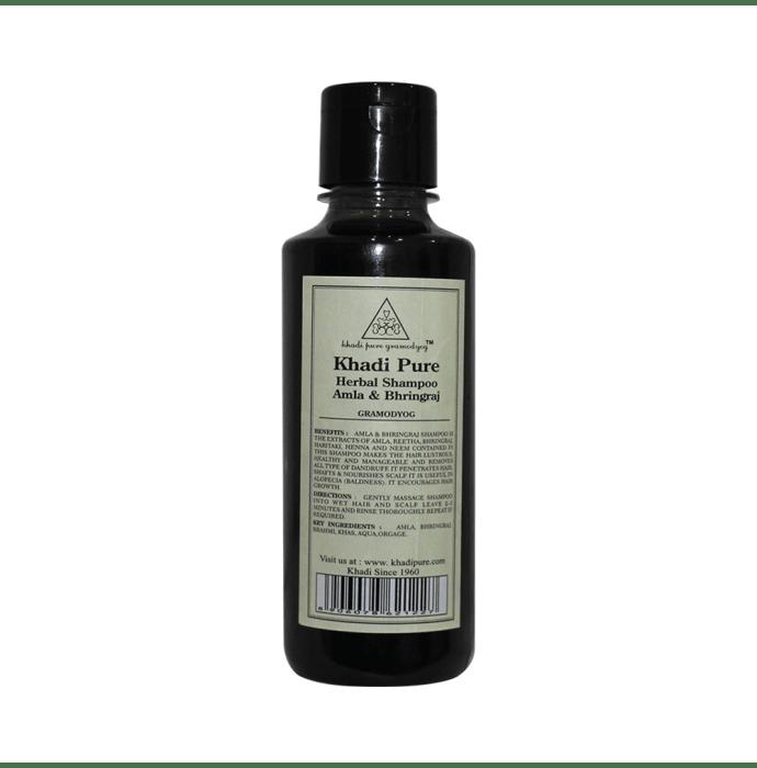 Khadi Pure Herbal Amla & Bhringraj Shampoo
