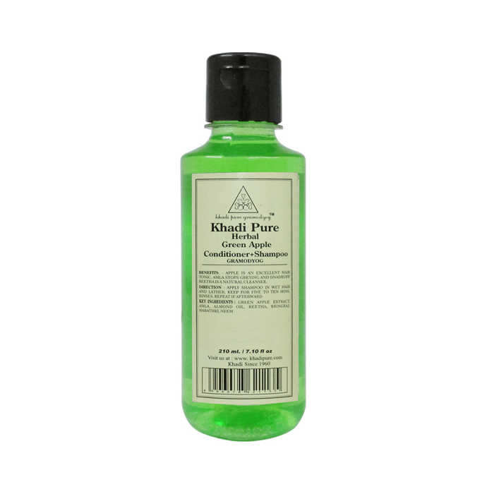 Khadi Pure Herbal Green Apple Conditioner+Shampoo