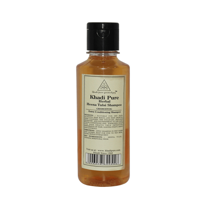 Khadi Pure Herbal Henna & Tulsi with Extra Conditioning Shampoo