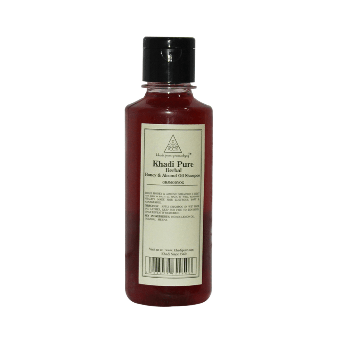 Khadi Pure Herbal Honey & Almond Oil Shampoo